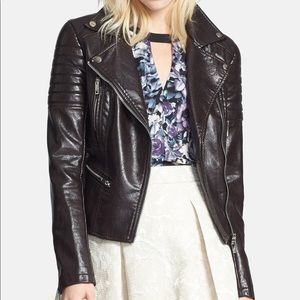 BLANK NYC - Quilted Faux Leather Moto Jacket
